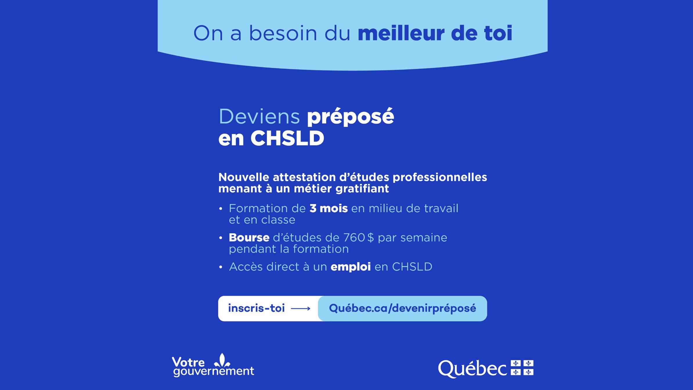 Quebec lanza operación para formar préposés aux bénéficiaires
