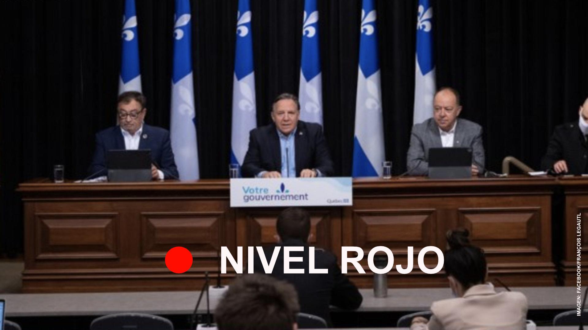 En nivel rojo, tres regiones de Quebec