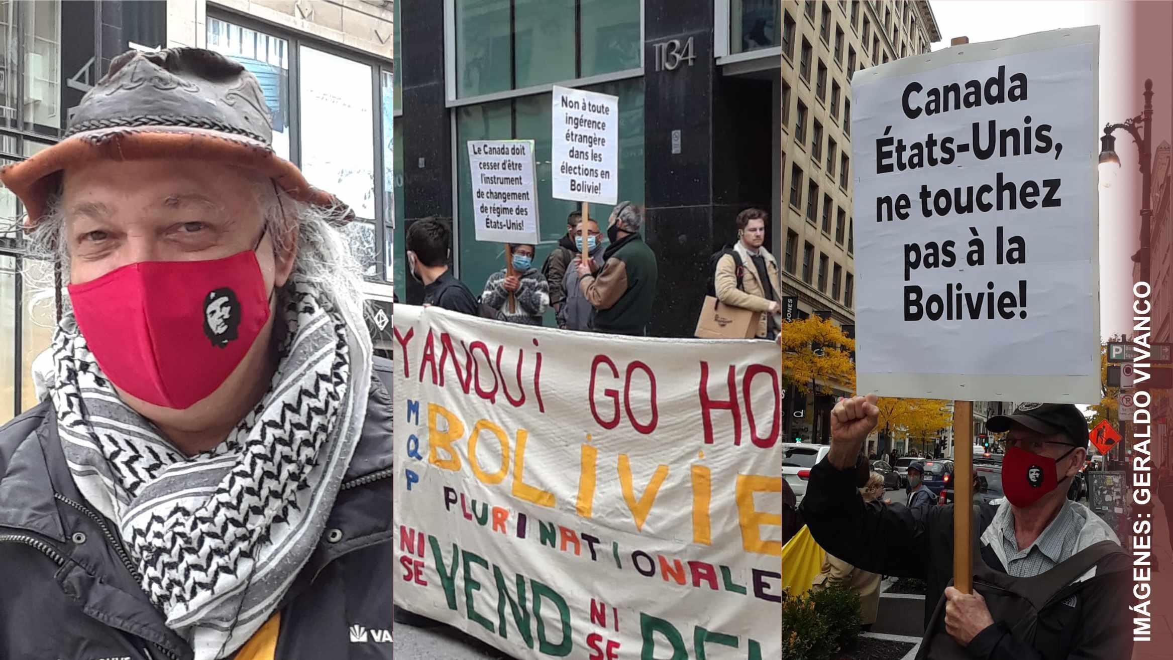 Manifestaciones de apoyo a Chile y Bolivia en Montreal