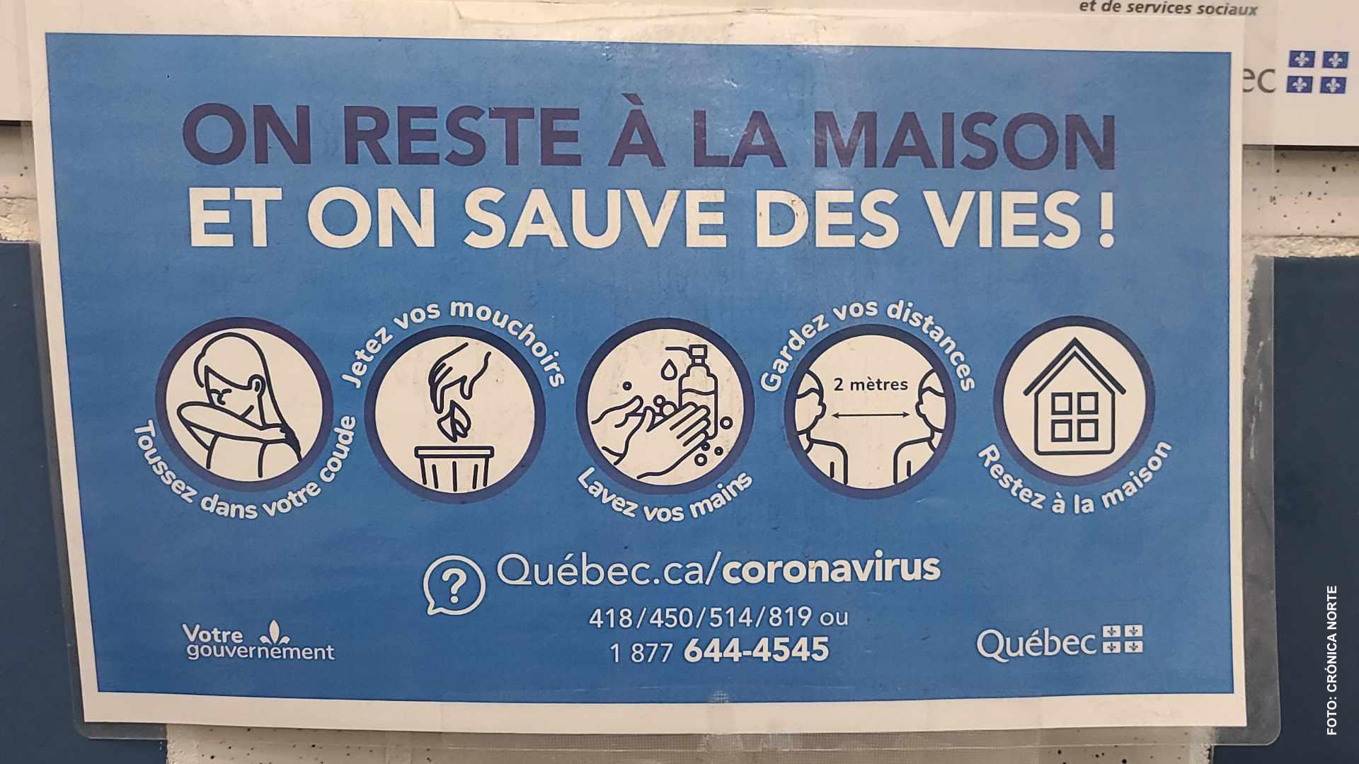 Comienza tercera ola de pandemia en Quebec, admiten