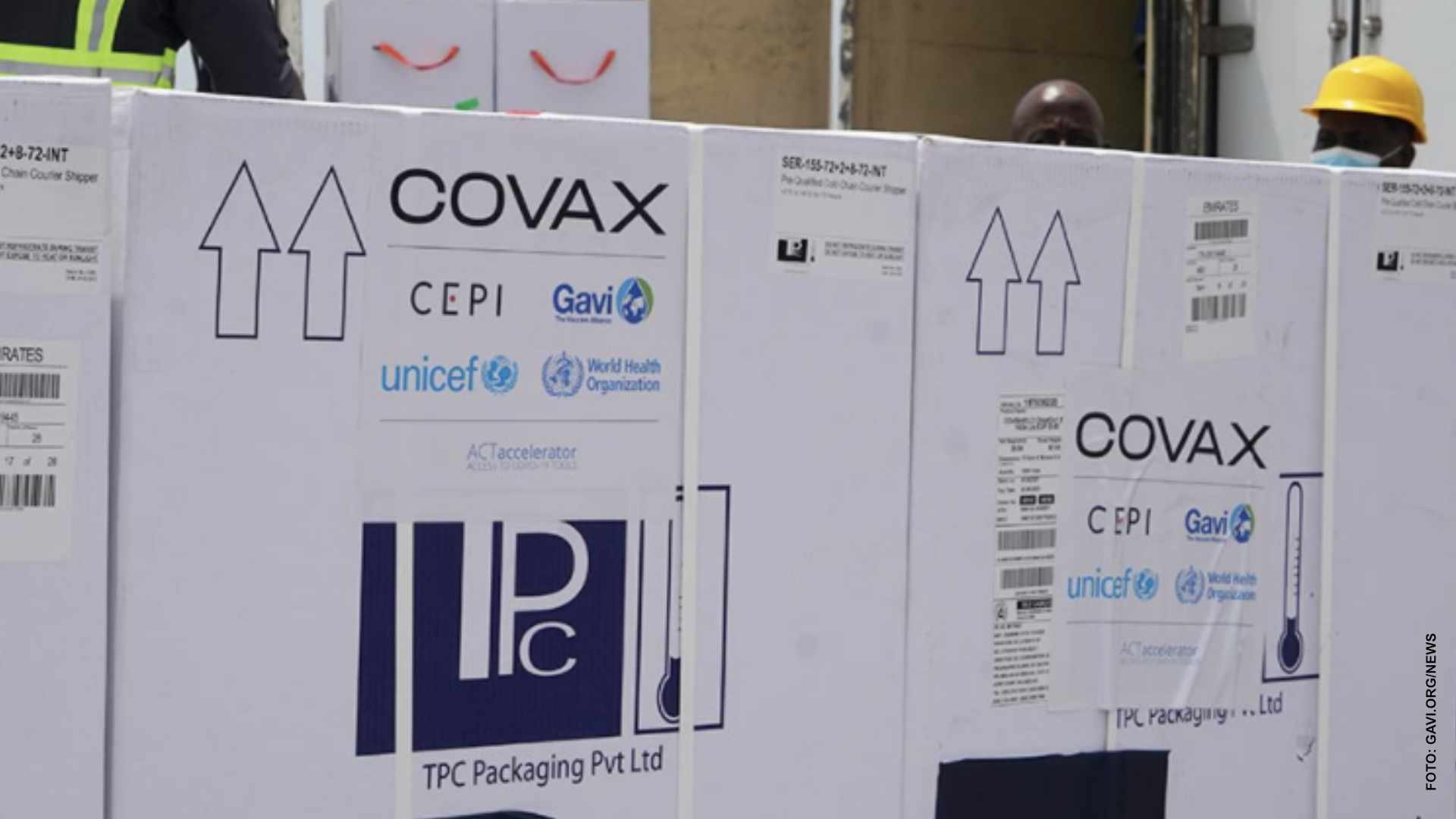 Llegan a Canadá vacunas del programa COVAX