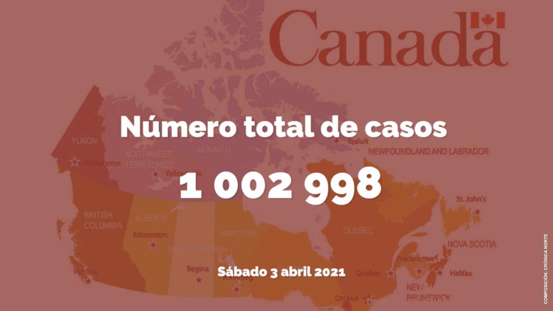 Canadá rebasa la barrera del millón de contagios