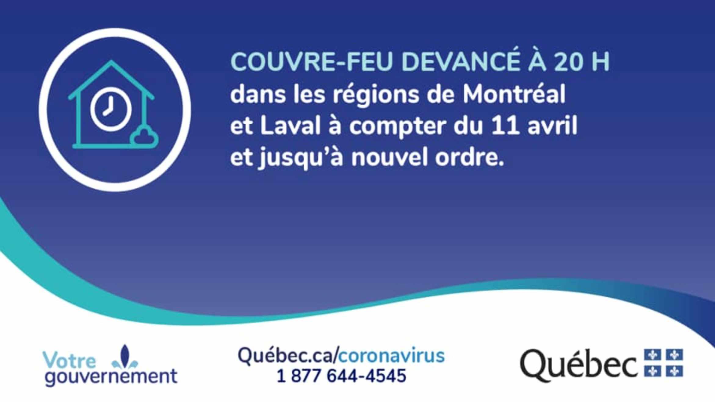 Toque de queda, a las 8 de la noche en Montreal y Laval