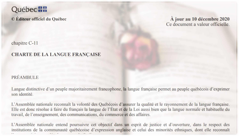 Quebec presenta reforma a la Carta de la Lengua Francesa