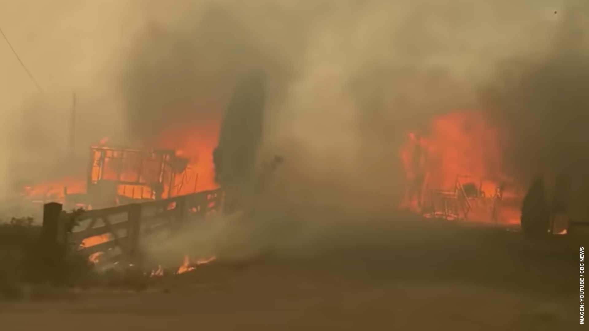 Las llamas arrasan con el poblado de Lytton