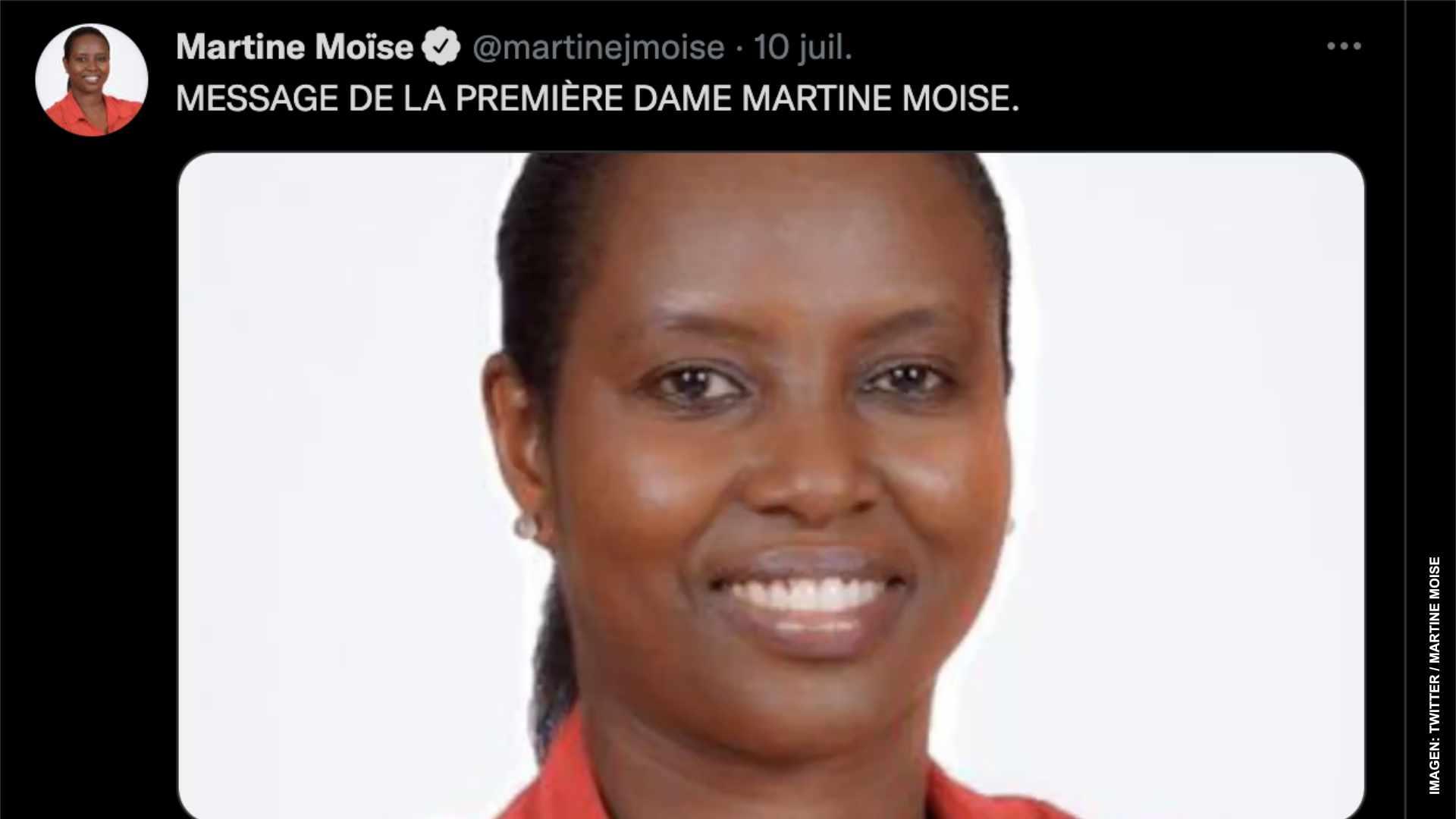Primera dama de Haití llama a seguir lucha de su esposo