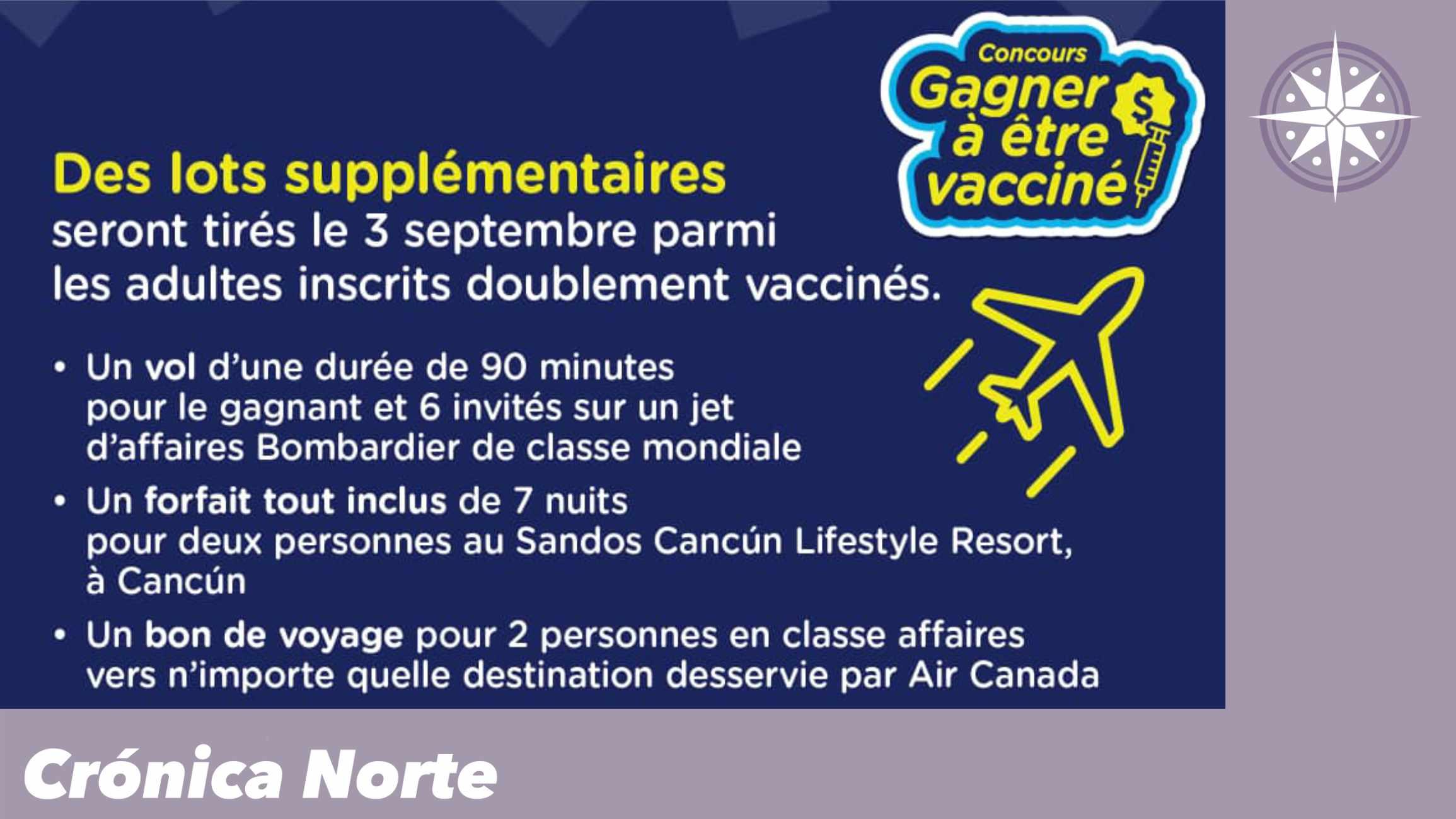 Empresas ofrecen más premios a vacunados en Quebec
